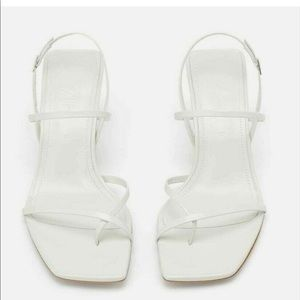 RARE Zara white heeled sandals size 35